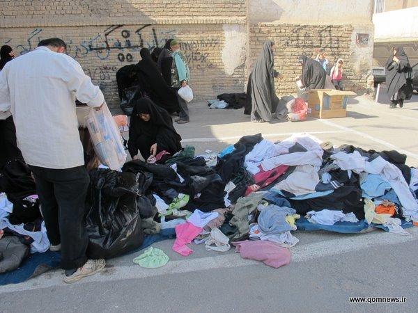 هدیه رایگان لباسهای دست دوم به نیازمندان